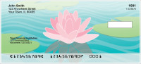 Water Lilies Personal Checks | FLO-004