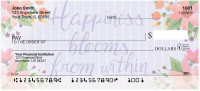 Happiness Blooms From Within Personal Checks | FLO-010
