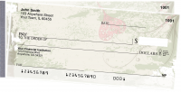 Grunge Hearts Side Tear Personal Checks | STLOV-11