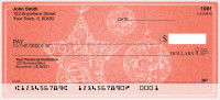 Vintage Christmas Personal Checks | XMS-60