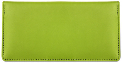 Lime Green Smooth Leather Checkbook Cover | CLP-GRN02