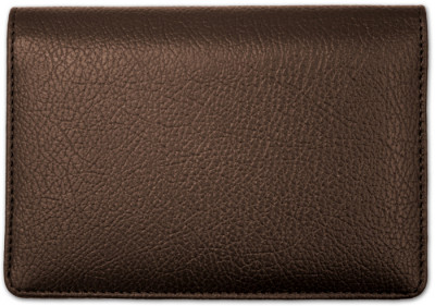 Dark Brown Leather Top Stub Checkbook Cover | CLW-BRN01