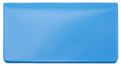 Sky Blue Vinyl Checkbook Cover | VCB-BLU03