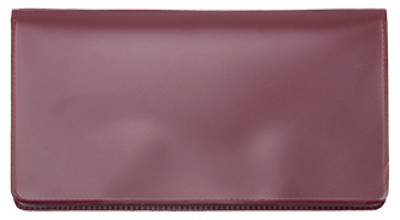 Burgundy Vinyl Checkbook Cover | VCB-BUR01