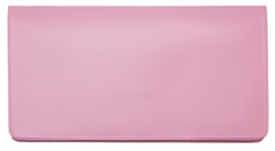 Pink Vinyl Checkbook Cover | VCB-PIN01