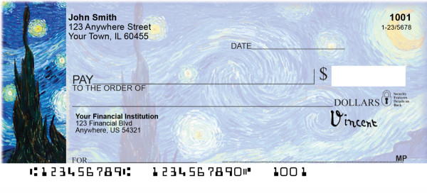 Van Gogh Personal Checks | ABS-87