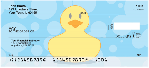 Rubber Duckies Personal Checks | ANI-009