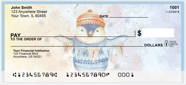 Winter Waddle Personal Checks | ANI-014