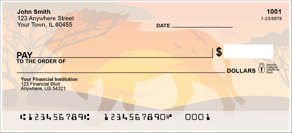 Safari Sunrise Personal Checks | ANI-019