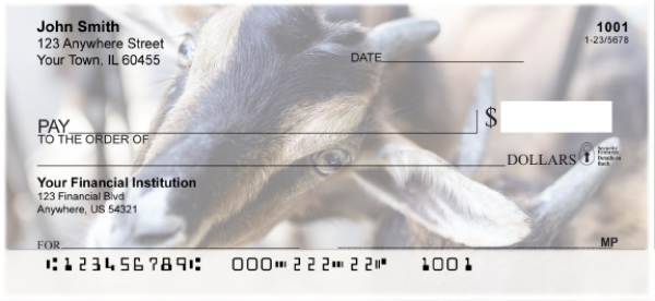 Goats Personal Checks | ANI-28