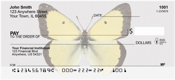 Butterfly Collector Personal Checks | ANI-50