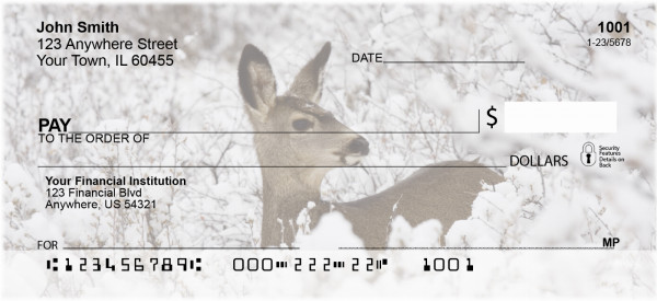 Winter Wonderland with Deer Personal Checks | ANI-61