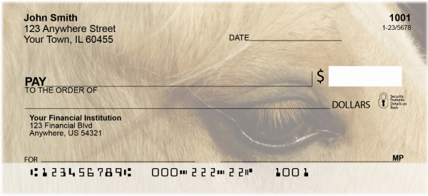 Horses Seeing Eye to Eye Personal Checks | ANI-85