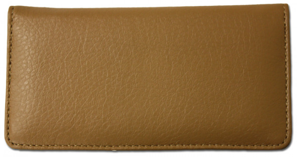 Tan Textured Leather Checkbook Cover | CLP-TAN02