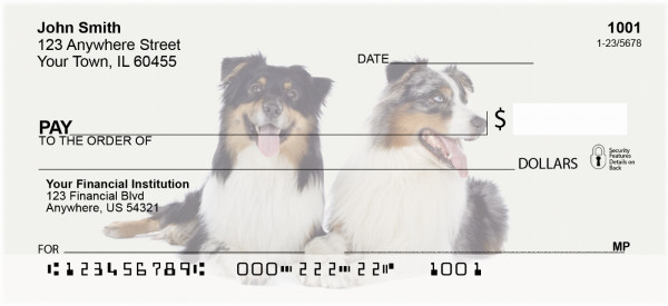 Australian Shepherd Personal Checks | DOG-92