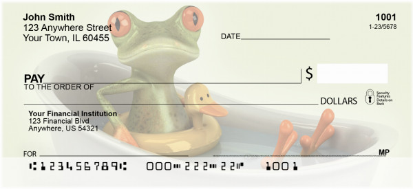 Funky Frogs Personal Checks | EVC-03