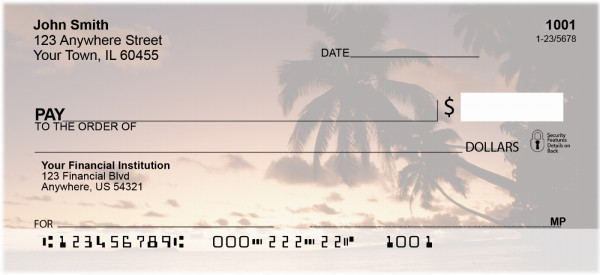 Sunset Silhouettes Personal Checks | EVC-14
