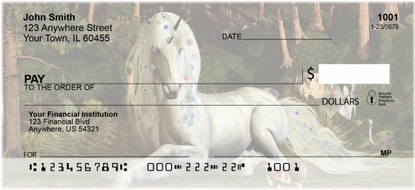Mystic Unicorns Personal Checks | EVC-73