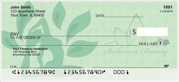 Namaste Personal Checks | FLO-002