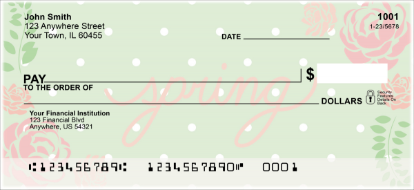 Spring Sayings Personal Checks | FLO-006