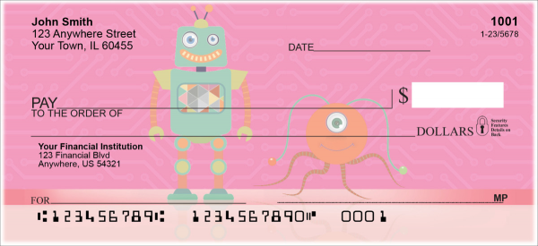 Robot Friends Personal Checks | FUN-001