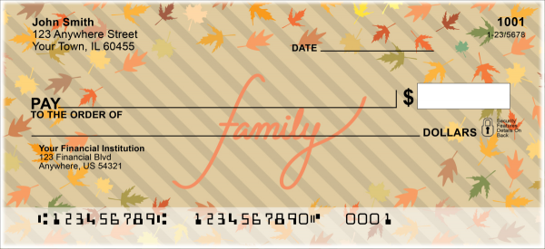 Thankful Blessings Personal Checks | FUN-014