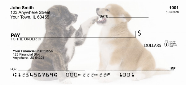 Akita Puppies Personal Checks | GCA-05
