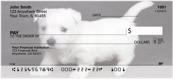 West Highland Terrier Puppies Personal Checks | GCA-08