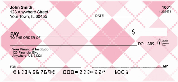Argyle and More Argyle Personal Checks | GCA-44