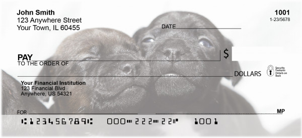 Puppies Personal Checks | GCC-07