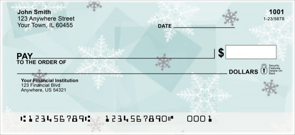 Winter Wonder Personal Checks | GEO-002