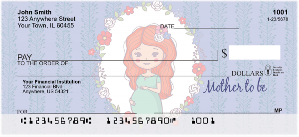 Mother to Be Personal Checks | LOV-23