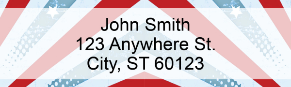 Red, White and Blue Address Labels | LRPAT-39