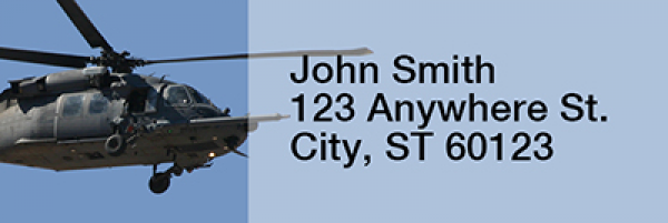 Blackhawk Choppers Narrow Address Labels | LRRMIL-53