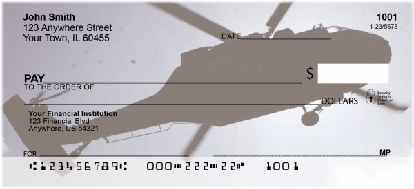 Helicopters in the Sky Personal Checks | MIL-76