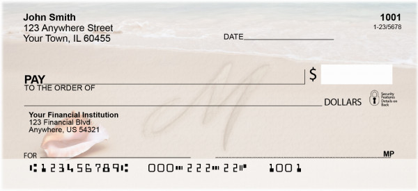 Sand Written Monogram 'M' Personal Checks | MONO-07M