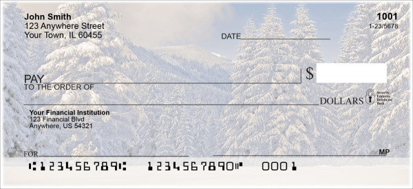 Snowy Woodland Personal Checks | NAT-86