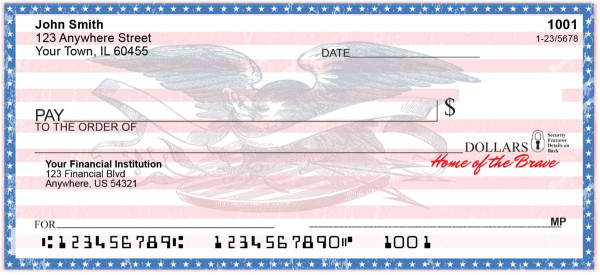 Home of the Brave Personal Checks | PAT-37
