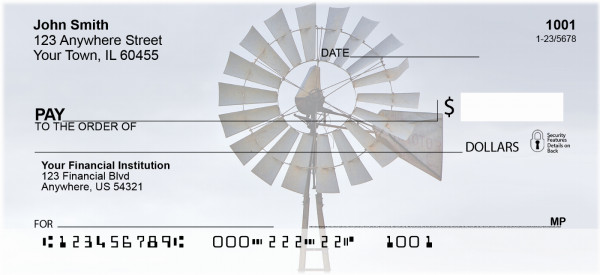 Midwest Windmills Personal Checks | SCE-06