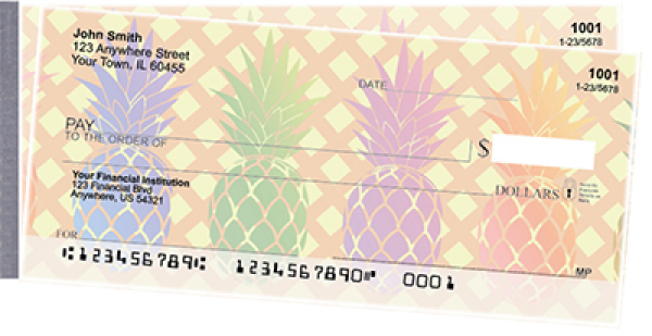 Pineapples Side Tear Personal Checks | STFOD-70