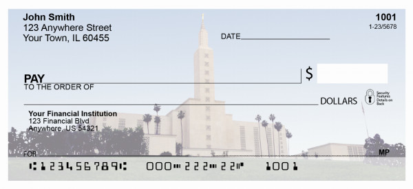 Los Angeles Temple Personal Checks | TEM-07