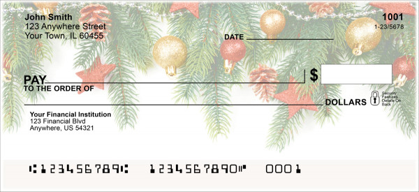 Winter Trinkets Personal Checks | XMS-61